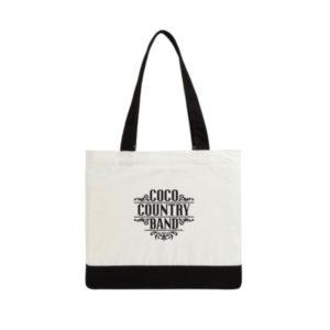 Procurez-vous votre sac réutilisable du Coco Country Band! Construction robuste, parfait pour transporter votre épicerie jusqu'à la maison!